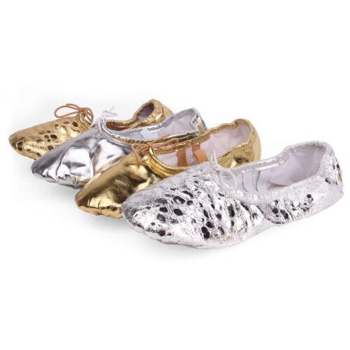 Ballet Shoes Adult Shiny Gymnastics Shoes Kids Elastics Training Shoes Big Size