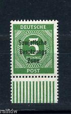 SBZ 5 Pfg. Kontrollrat 1948** + Aufdruckfehler Michel 207 I geprüft (S9293)