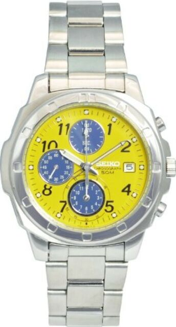 Seiko import Yellow SND409 mens SEIKO watch imports from JAPAN