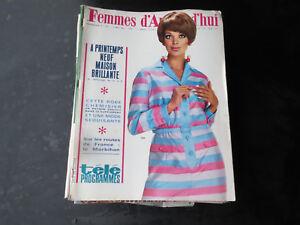 21-MAGAZINES-FEMMES-D-039-AUJOURD-039-HUI-ancien-mode-vintage-deco-design-1966-1967