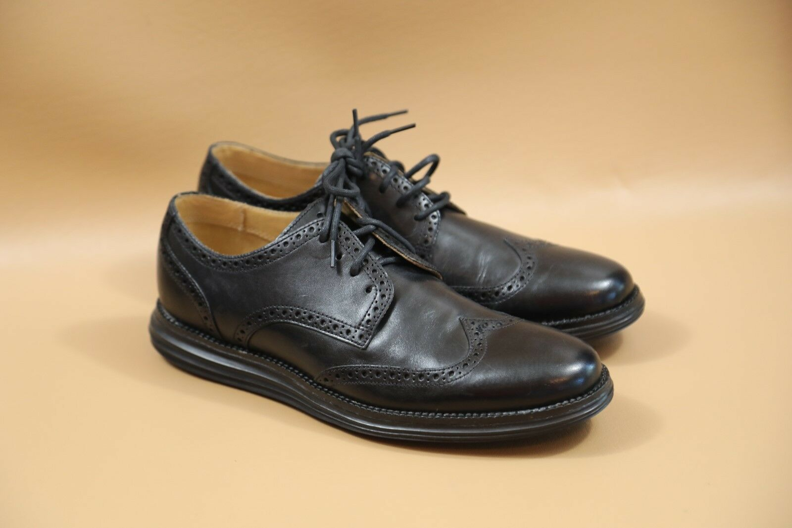 Cole Haan Black  Wing Tip Oxford shoes Size 9