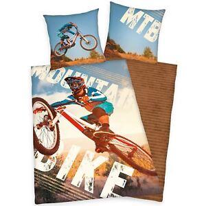 Edredon Bicicleta.Detalles De Bicicleta De Montana Funda Edredon Individual Europeo Juego Almohada Algodon