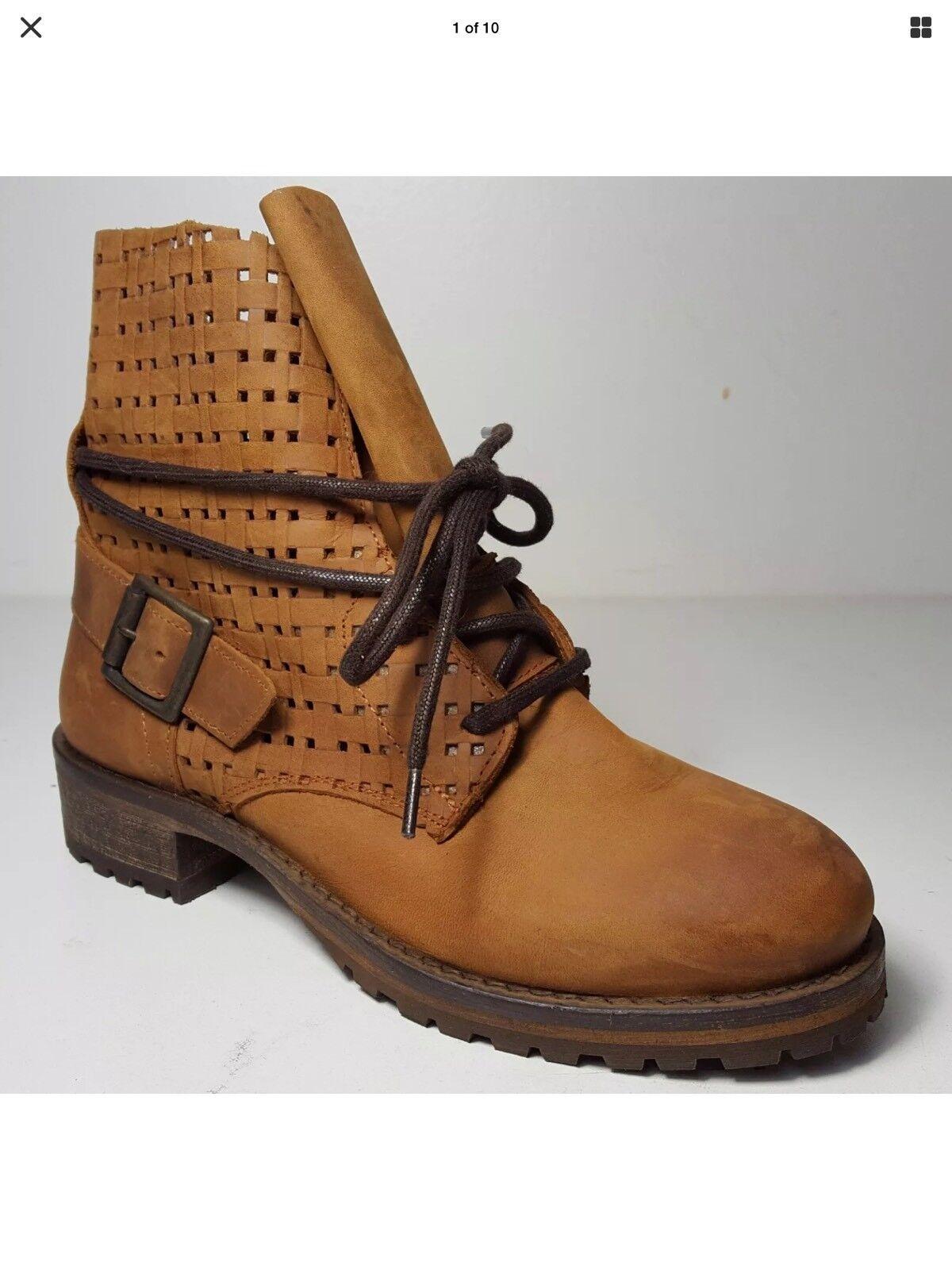 Jeffrey Campbell 2615-ki Perforiert Zum Schnüren Schnüren Schnüren Kampf Stiefel Schuhe Größe 39    903627