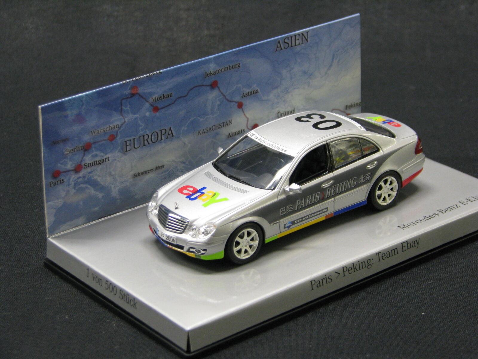 Minichamps Mercedes-Benz E-Klasse 320 CDI 2006 1 43  03 Paris-Beijing (JS)
