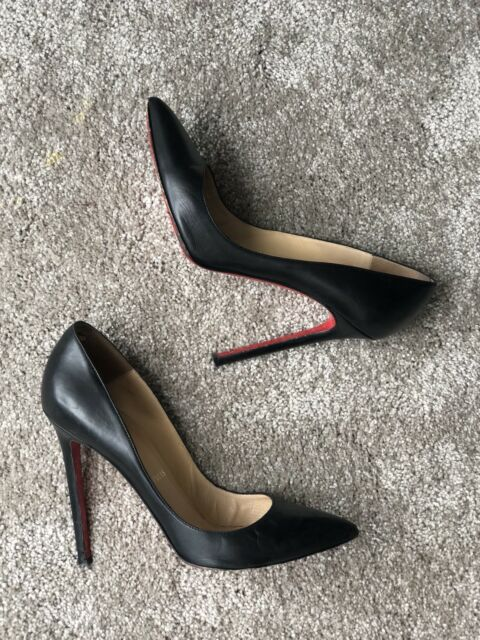 0f8a81195b2 Christian Louboutin Pigalle 120 Black Nappa Kid Leather
