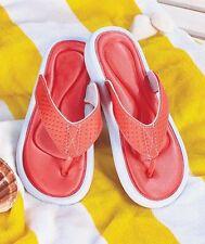 Women's Memory Foam Comfort Sandals Flip Flops Small Size 7 Coral Color