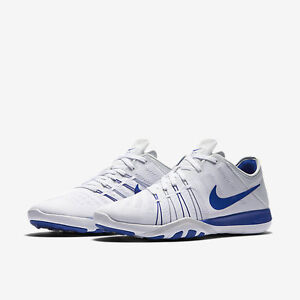 Women's Nike Free TR 6 Running Shoes White Royal Blue Trainers 833413-144 NEW