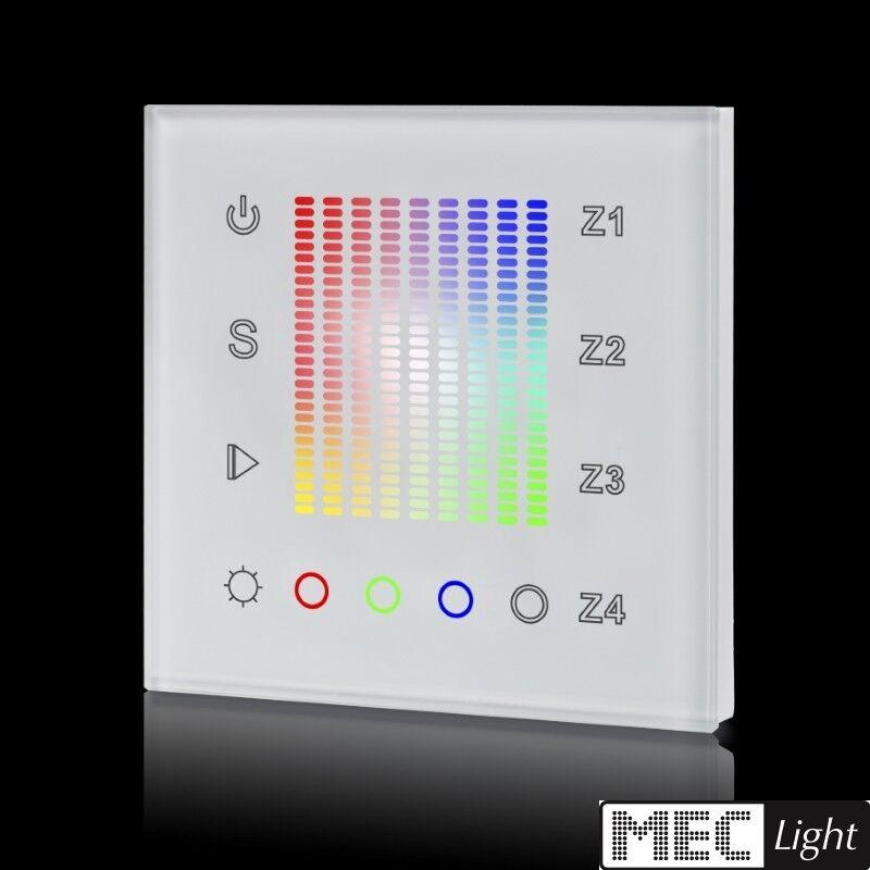 4 canali RGB a LED Touch-Panel-insDimensionezione a parete - 4-zone - 4x 4a-BIANCO (sr-2831ac) Bianco