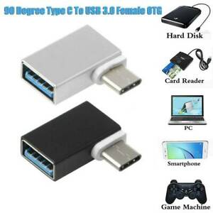 90 Degree USB-C USB 3.1 Type C Male To USB 3.0 Female Data OTG Converter Adapter