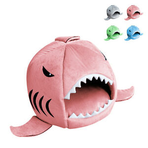 2019 Unique Shark Mouth Pet Dog Cat House Removable & Washable  Kennel Dog Bed