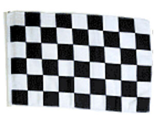 "12x18 12/""x18/"" Red and White Checker Checkered Stick Flag wood Staff"