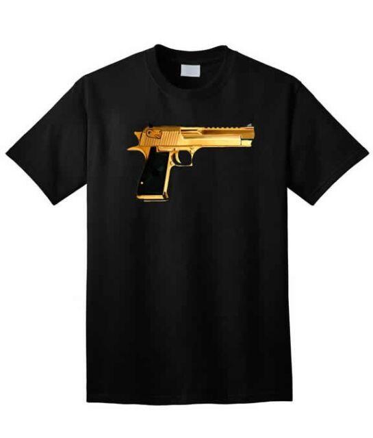 KINGS OF NY BLACK GOLD GUN TSHIRT  10  AND THE HANDGUN 9MM