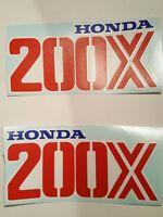 Set Of (2) 200x Honda Atc Gas Tank Decals Hrc Big Red 200
