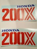Set Of (2) 200x Honda Atc Gas Tank Decals Hrc Big Red 200