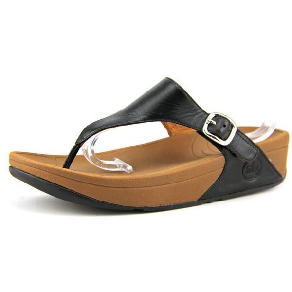 4c16b952911f Women FitFlop The SKINNY Flip Flop Sandal B28-090 Black 100 Original 8 for  sale online
