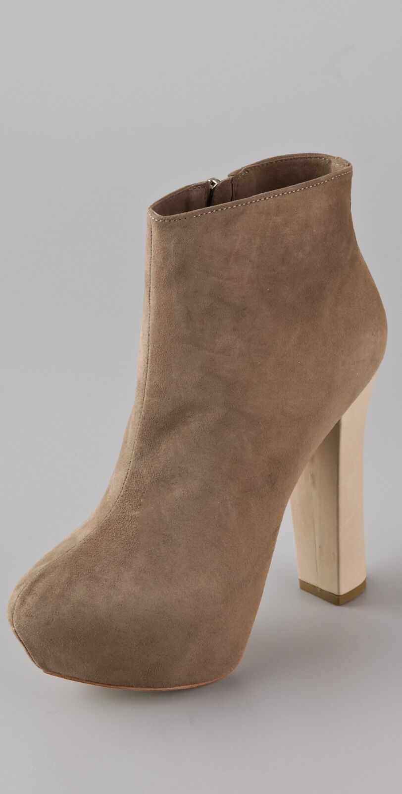 NWB  265 Report Signature Ankle Boots Booties Layton Layton Layton Suede Platform 7.5 taupe 09cc6e