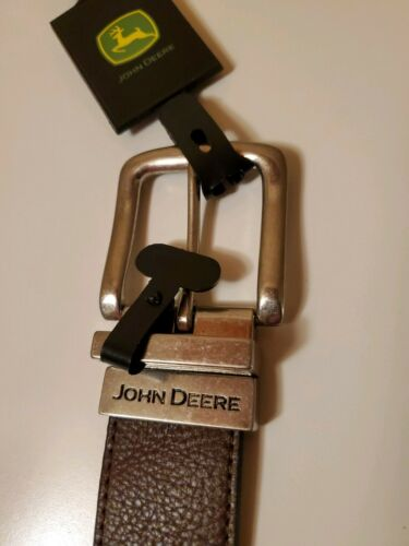 Brand New John Deere Leather Reversible Black and Brown Belt Size 34