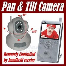 "Wireless Camera PAN TILT 2.5"" Baby Video Monitor  NEW"