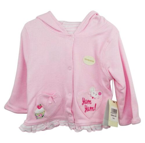 Babaluna pink cotton hooded /'tea/' jacket embroidered design reversible