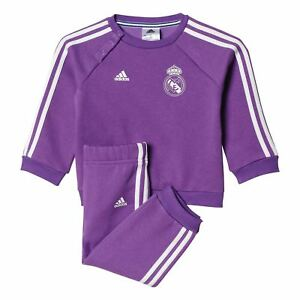 best service f9d50 4700d Details about adidas SIZE 3-12 MONTH BABY REAL MADRID MINI INFANT JOGGER  FULL TRACKSUIT PURPLE
