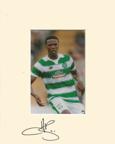 A 10 x 8 inch mount personally signed by Dedryck Boyata of Glasgow Celtic.