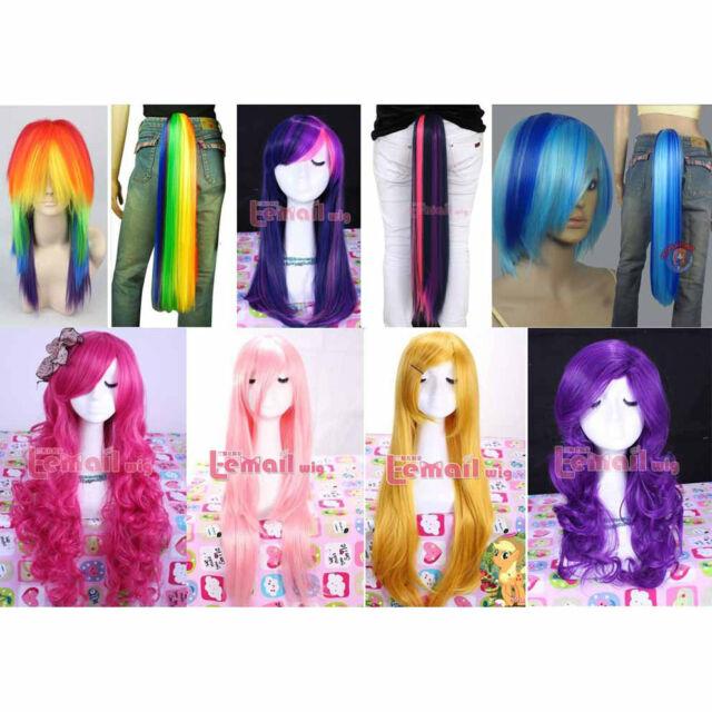My Little Pony Twilight/Dashie/Rarity/Fluttershy/Pinkie Pie styles wig hair