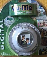 Vu Me Photo Ball - Digital Photo Frame- Store And Display 70 Photos - Golf Ball