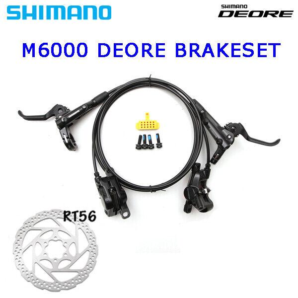Shiuomoo Deore blbrm6000 preCamoscio ANTERIORE FRENO A DISCO DISCO DISCO v&h Set 7501350mm 0d1