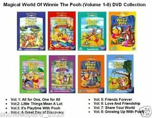 magical world of winnie the pooh dvd volume 1 2 3 4 5 6 7. Black Bedroom Furniture Sets. Home Design Ideas