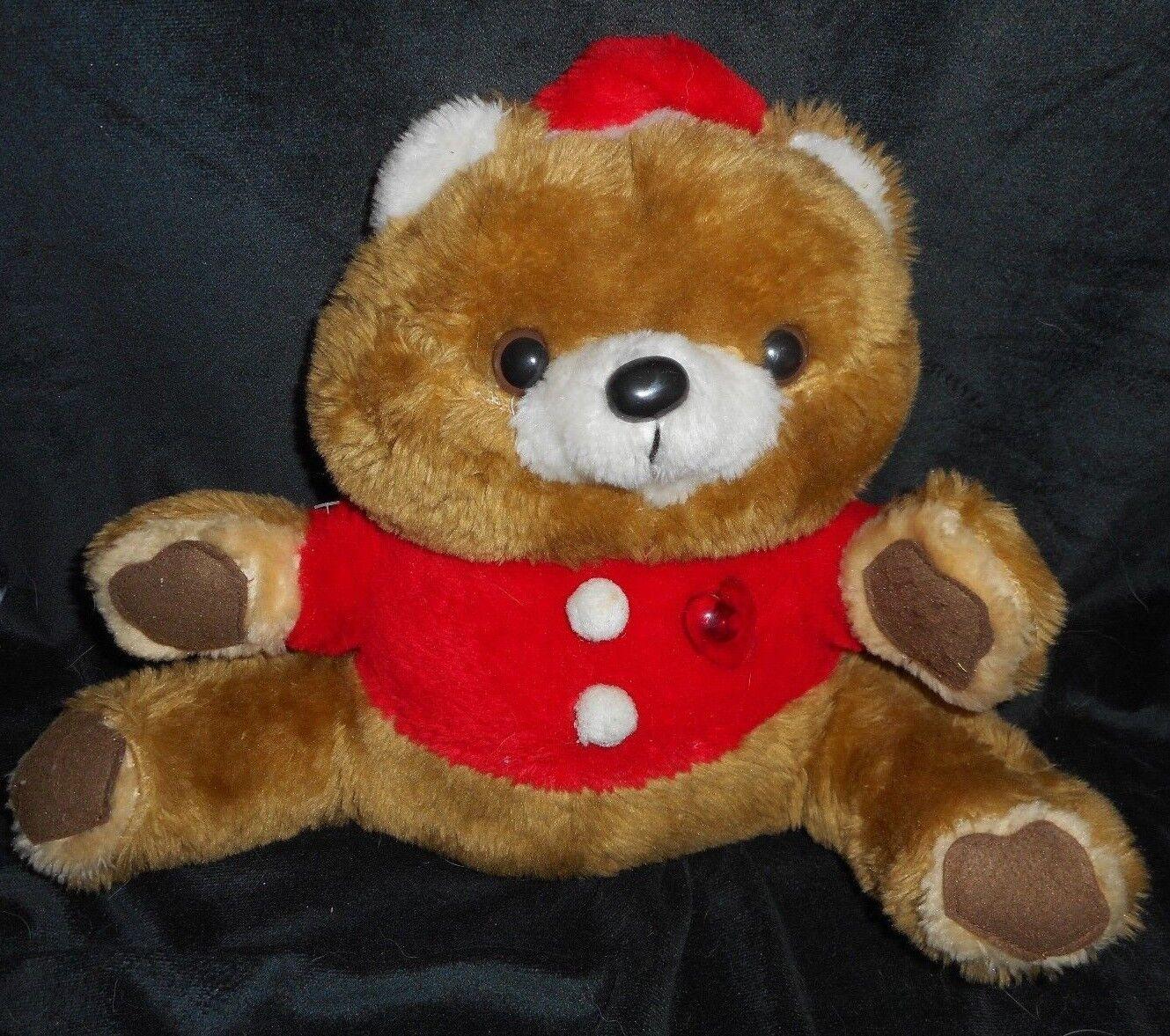 Vintage Liberty Bell Musical Weihnachten Teddybär Plüschtier Spielzeug Hell