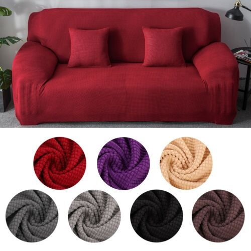 Stretch Elastic Fabric Sofa Cover Sectional//Corner Couch Covers Fit Home Decor