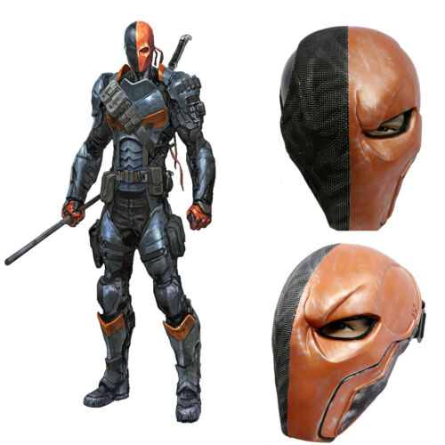 Deathstroke Mask Batman Arkham Origins Halloween Cosplay Costume Helmet Props