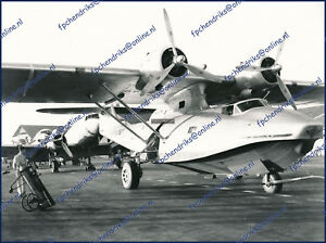 KLM IIB KNILM PBY-5A CATALINA CANSO PK-CTD, OLD KLM NUMBERED PHOTO 18x24cm