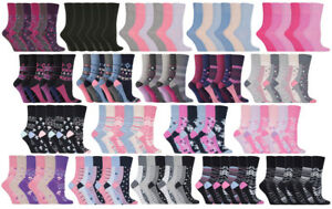 Gentle-Grip-6-Pack-of-Womens-Non-Binding-Wide-Loose-Top-Patterned-Cotton-Socks