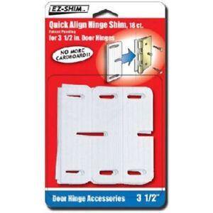 Hinge Shim 3.5 HS350BP 18 Pack Door Hinges Doors Hardware Building Home NEW