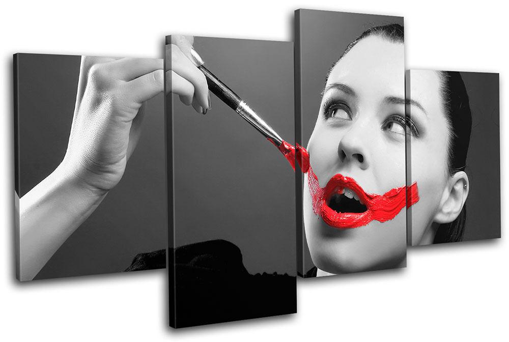 Painted Lips NUDES Fashion MULTI Leinwand Wand Kunst Bild drucken