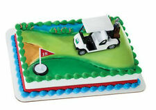 Golf cart Golfing clubs cake decoration Decoset cake topper set toy