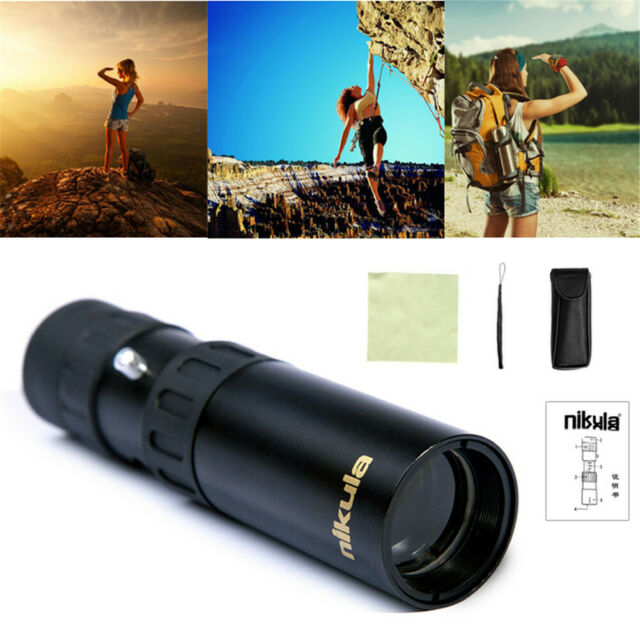 Pocket Mini 10-30x25 Optical Monocular BAK4 Green Film for Hunting Sport Camping