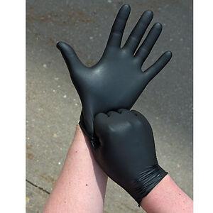 Jetable latex noir m dical tatouage m canique sans poudre - Gant latex noir ...