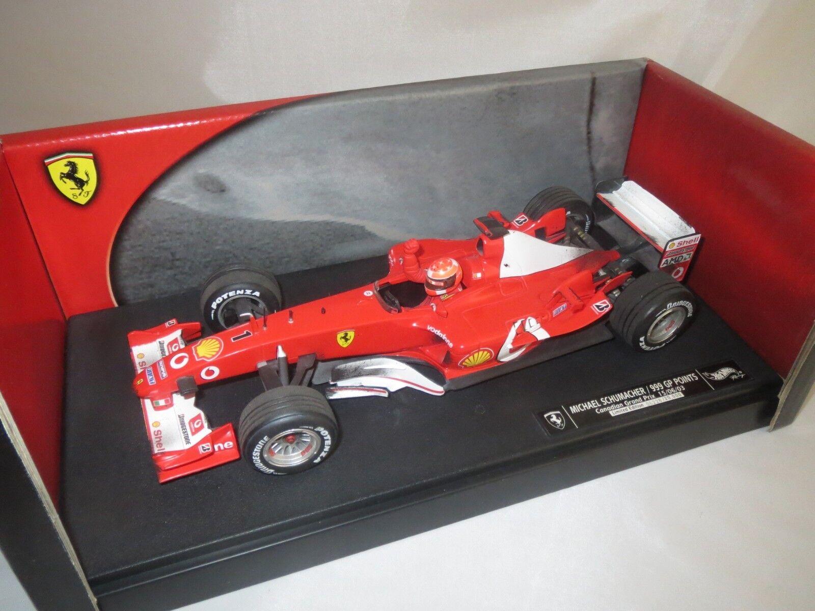 Mattel c5938  M. SCHUMACHER   1 (Canadian Grand Prix)  2003  1 18 neuf dans sa boîte (f5)