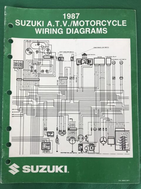 1987 Atv Motorcycle Wiring Diagrams Manual  99923