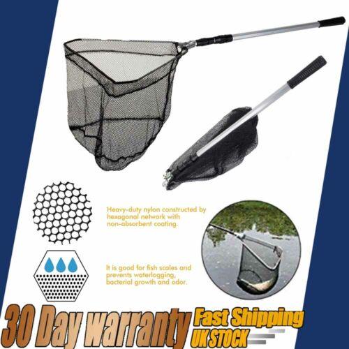 "58/"" Telescopic Folding Fishing Pole Extending Fly Carp Landing Net Course Sea"