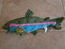 "Bass Pro Rainbow Trout Fish Plush 15"" Wildlife Artists"