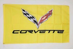 Corvette C7 Banner 3x5 Ft Flag Garage Wall Shop Decor Chevrolet Chevy Racing