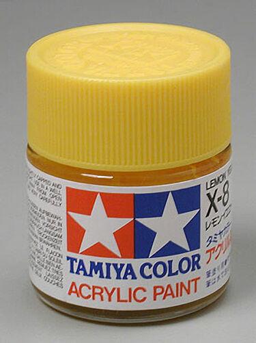 495ba83ae763 Tamiya X-8 Lemon Yellow Acrylic Paint 23ml