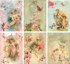 Vintage-inspired-angel-fairy-small-note-cards-tags-ATC-altered-art-set-6