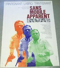 Affiche de cinéma : SANS MOBILE APPARENT de Philippe LABRO
