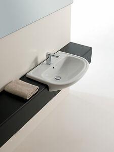 Lavandino lavabo semincasso design apollo in ceramica for Lavandino design