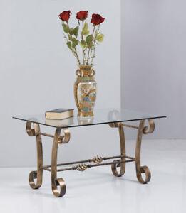Tavolini Da Salotto In Ferro Battuto.Tavolino Da Salotto In Ferro Battuto Rettangolare Con Piano