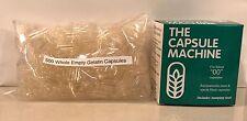"""""""00"""" CAPSULES Filler MACHINE Kit FILLING + 500 Gelatin Capsules"""